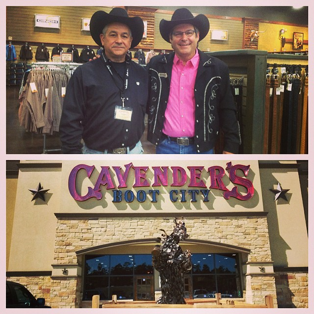 The #GrandOpening of our Humble, Texas store is this weekend! Manager Ricky Martin and Mike Cavender are pictured. #HumbleTexas #Cavenders