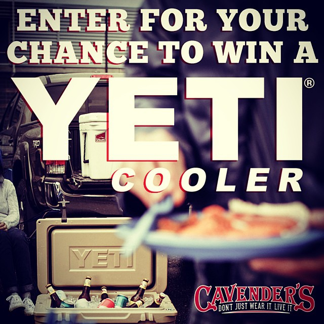 Yes, this is really happening. Click the link in our bio to enter daily through 11/28! @yeticoolers #yeticoolers #yetigiveaway #cavenders