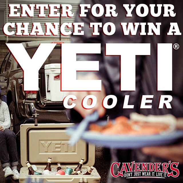 Y'all keep entering daily to win a @YetiCoolers cooler! We will announce the winner on #BlackFriday. Click the link in our bio for a chance to win!