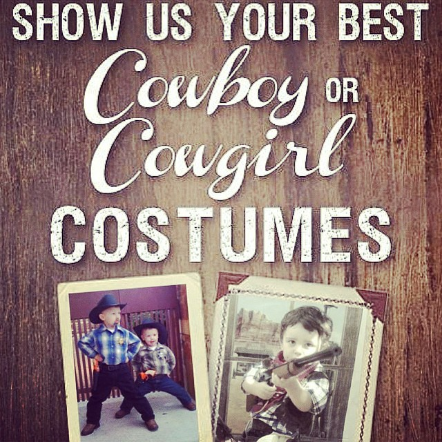 Want to win a $200, $150, $100, or $50 Cavender's gift card? Click the link in our bio to enter your #cowboy or #cowgirl costume now until 11/3! Pictured are last year's first and second place winners.