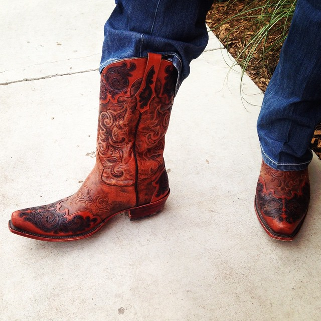 Check out our District Manager Ron Whitten's custom-made Tony Lamas ? #gorgeous #CowboyBoots #Cavenders #DontJustWearItLiveIt