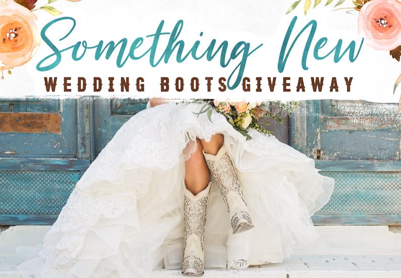 2018 Wedding Boots Giveaway