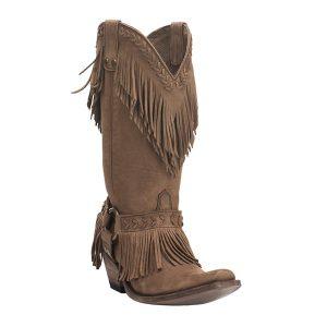 Old Gringo Yippee Ki Yay Women's Tan Fringe Western Snip Toe Boots (OGYL2444-3)