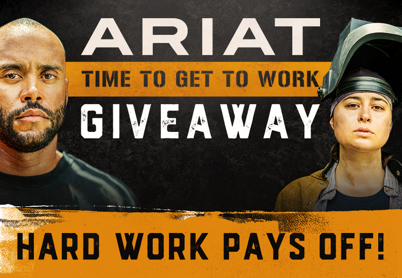 Ariat Time to Get to Work Workboot Giveaway
